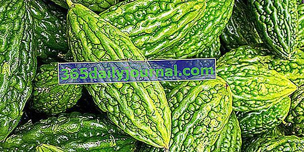 Calabaza amarga (Momordica charantia), pepino amargo