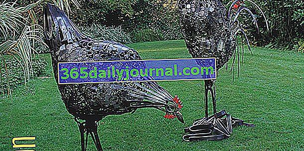 Pierre Treilhes: Kovové sochy v zahradách
