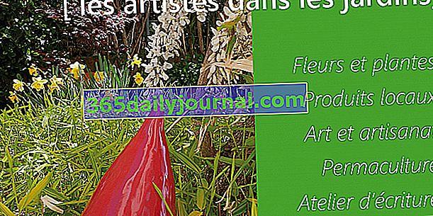 Primavera en el claustro, artistas en los jardines - Collioure (06)