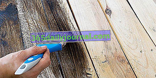 Как да рисувам върху дърво, без да го шлайфам (мебели, паркет, стълби и др.)?